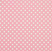 Материалы для творчества ручной работы. Ярмарка Мастеров - ручная работа Ткань Хлопок Сатин Саржа Китай Горох на Розовом. Handmade.