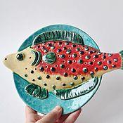 Plates handmade. Livemaster - original item Ceramic plate