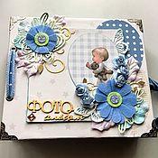 Канцелярские товары handmade. Livemaster - original item Photo albums: Children`s photo album for the boy