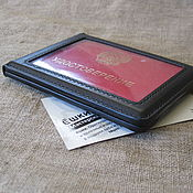 Канцелярские товары handmade. Livemaster - original item ID card cover with window. ID card case.. Handmade.
