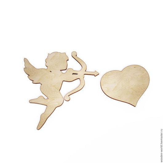 Декупаж и роспись ручной работы. Ярмарка Мастеров - ручная работа. Купить Ангел с сердцем. Handmade. Комбинированный, заготовки для декупажа, сердце