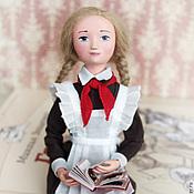 Куклы и игрушки ручной работы. Ярмарка Мастеров - ручная работа Кукла школьница Таня - авторская кукла ручной работы (18 см). Handmade.