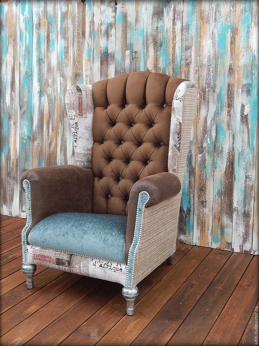 Мебель ручной работы. Ярмарка Мастеров - ручная работа. Купить кресло 59. Handmade. Коричневый, стильное, текстиль
