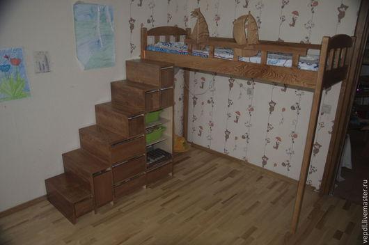Мебель ручной работы. Ярмарка Мастеров - ручная работа. Купить Детская кровать чердак. Handmade. Коричневый, кровать