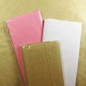Материалы для творчества ручной работы. Ярмарка Мастеров - ручная работа Бумага тишью белая, розовая 50 на 76 см. Handmade.