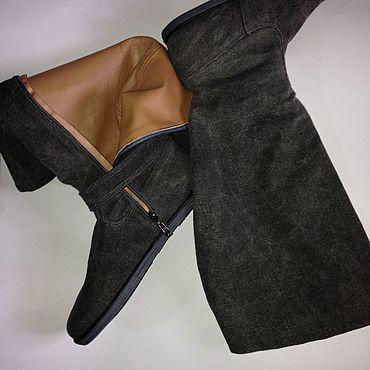 Обувь ручной работы. Ярмарка Мастеров - ручная работа Сапоги джинсовые. Handmade.