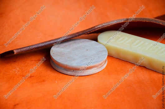 Другие виды рукоделия ручной работы. Ярмарка Мастеров - ручная работа. Купить Сликер круглый для полировки уреза. Handmade.