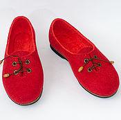 """Обувь ручной работы. Ярмарка Мастеров - ручная работа Туфли из войлока ручной работы """"Коррида"""". Handmade."""