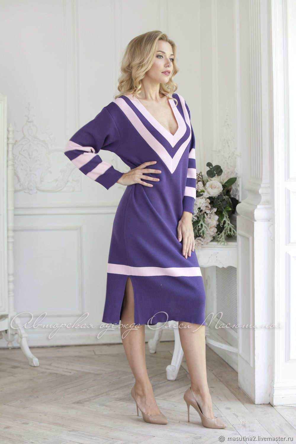 Dress 'Young style' purple, Dresses, St. Petersburg,  Фото №1