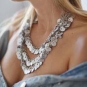 Necklace handmade. Livemaster - original item Leather choker Necklace. Handmade.