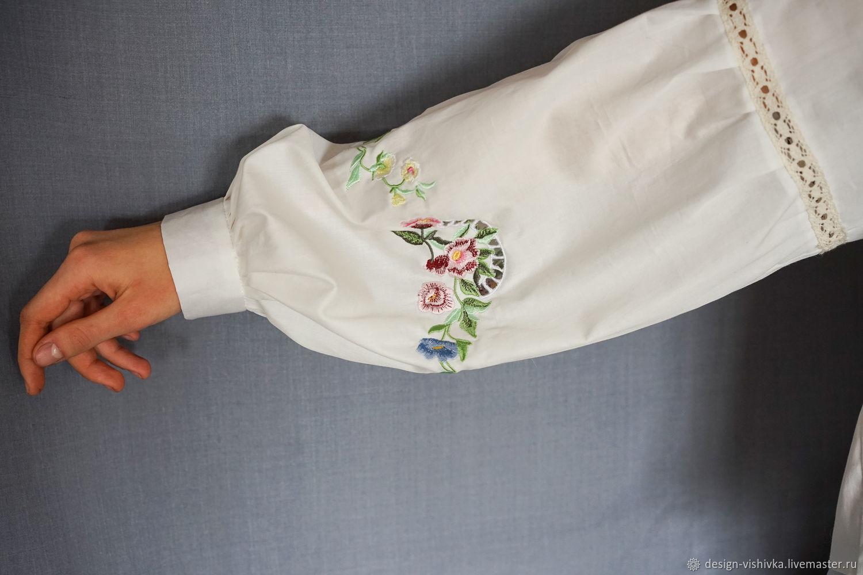 Блузки с вышивкой ришелье фото