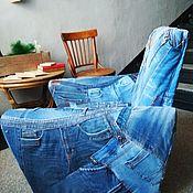 Покрывала ручной работы. Ярмарка Мастеров - ручная работа Чехол для кресла джинсовый. Handmade.