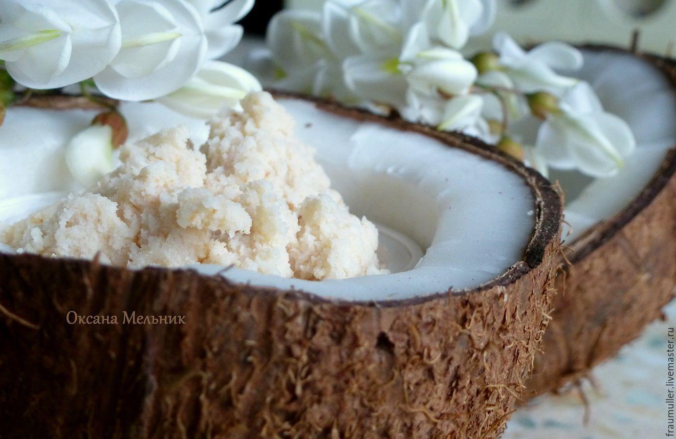 Скраб кокосовый для тела, 100 мл (Велиния)