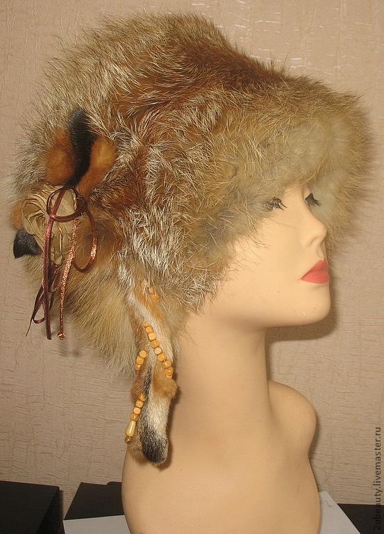 Купить шапку из кубанку лисы