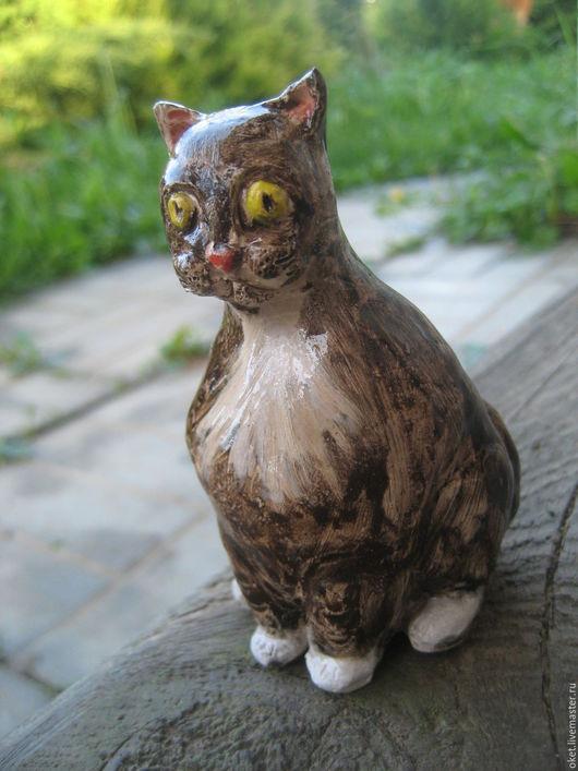 """Статуэтки ручной работы. Ярмарка Мастеров - ручная работа. Купить Статуэтка """"Кот чёрный"""" керамическая. Handmade. Кот, статуэтка кошка"""