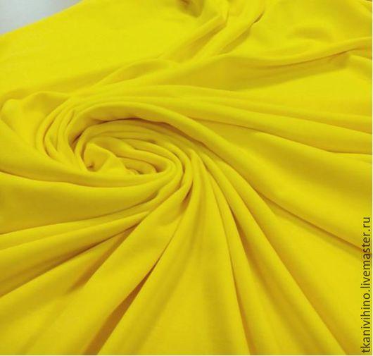 Шитье ручной работы. Ярмарка Мастеров - ручная работа. Купить Трикотаж желтый. Handmade. Желтый, желтый цвет, желток
