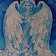 Фантазийные сюжеты ручной работы. Ярмарка Мастеров - ручная работа. Купить Ангел. Handmade. Голубой, ангел-хранитель, радость, нежность