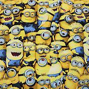Материалы для творчества ручной работы. Ярмарка Мастеров - ручная работа Плащевая ткань Дьюспо Миньоны. Handmade.