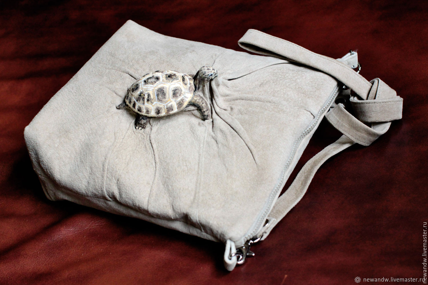 3D Bag 'Turtle' made of genuine leather in beige color, Classic Bag, Moscow,  Фото №1