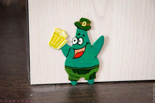 Магниты ручной работы. Ярмарка Мастеров - ручная работа. Купить Патрик Зеленый. Handmade. Тёмно-зелёный, зеленый цвет