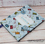 Канцелярские товары handmade. Livemaster - original item Notepad needlewomen soft cover blue. Handmade.
