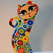 Для дома и интерьера handmade. Livemaster - original item Figurine made of colored glass, fusing