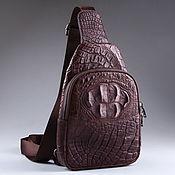 Сумки и аксессуары handmade. Livemaster - original item Crocodile leather shoulder bag IMA0507VK1. Handmade.