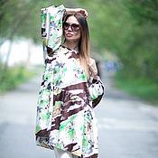 Одежда handmade. Livemaster - original item Summer, colored blouse made of cotton - TU0426CT. Handmade.