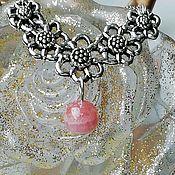 handmade. Livemaster - original item Necklace with natural rhodochrosite