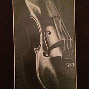 Картины и панно ручной работы. Ярмарка Мастеров - ручная работа Скрипка. Handmade.