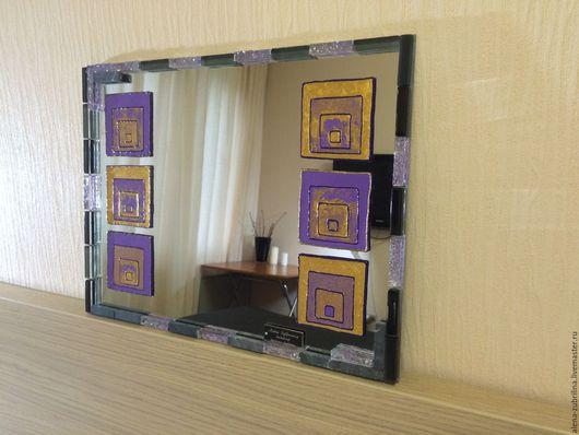 Зеркала ручной работы. Ярмарка Мастеров - ручная работа. Купить Зеркало-картина Блаженство. Handmade. Зеркало, подарок, стекло