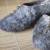 "Обувь ручной работы. Ярмарка Мастеров - ручная работа валяные тапочки ""Bright beads on wool curls"" (Just ecology). Handmade."