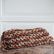 Для дома и интерьера ручной работы. Ярмарка Мастеров - ручная работа Подушка вязаная валик Шишечка. Handmade.