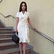 Одежда handmade. Livemaster - original item Classic dress, white dress, stylish dress !. Handmade.