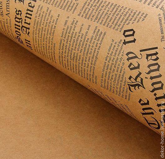 """Упаковка ручной работы. Ярмарка Мастеров - ручная работа. Купить Бумага упаковочная крафт """"Газета""""  черный  50 х 70 см, 90 г/м2. Handmade."""
