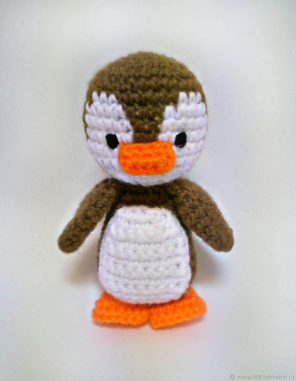 пингвин амигуруми брелок вязаный крючком купить в интернет