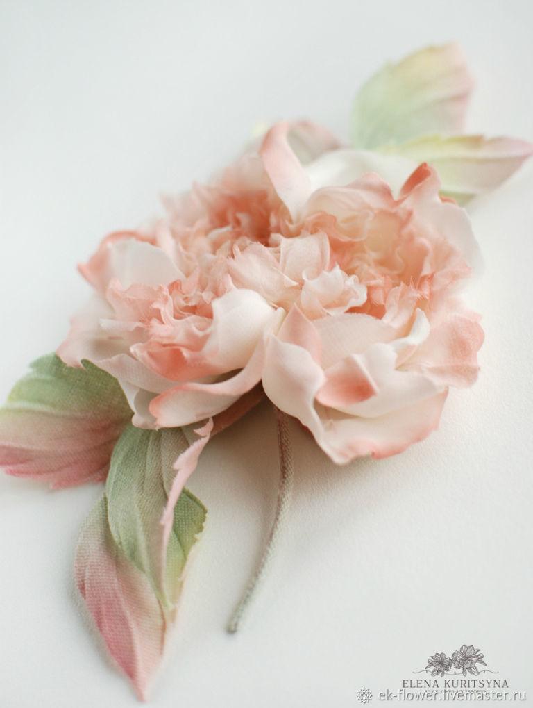 Silk flowers rose brooch valerie shop online on livemaster with order silk flowers rose brooch valerie silk flower mightylinksfo