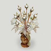 handmade. Livemaster - original item Flowers of mother of pearl
