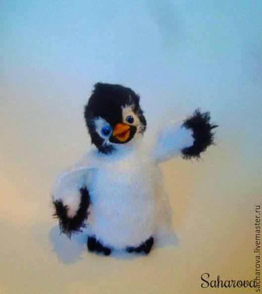 Игрушки животные, ручной работы. Ярмарка Мастеров - ручная работа. Купить Пингвинчик. Handmade. Серый, пингвинчик, пингвин, птицы