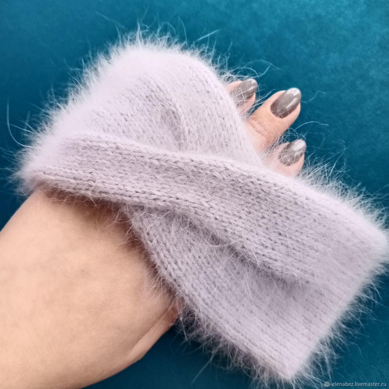 Knitted fluffy headband, Bandage, Tula,  Фото №1