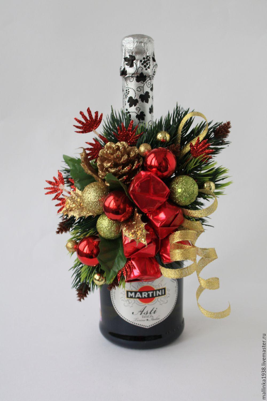 Подарок из конфет с шампанским своими руками 483
