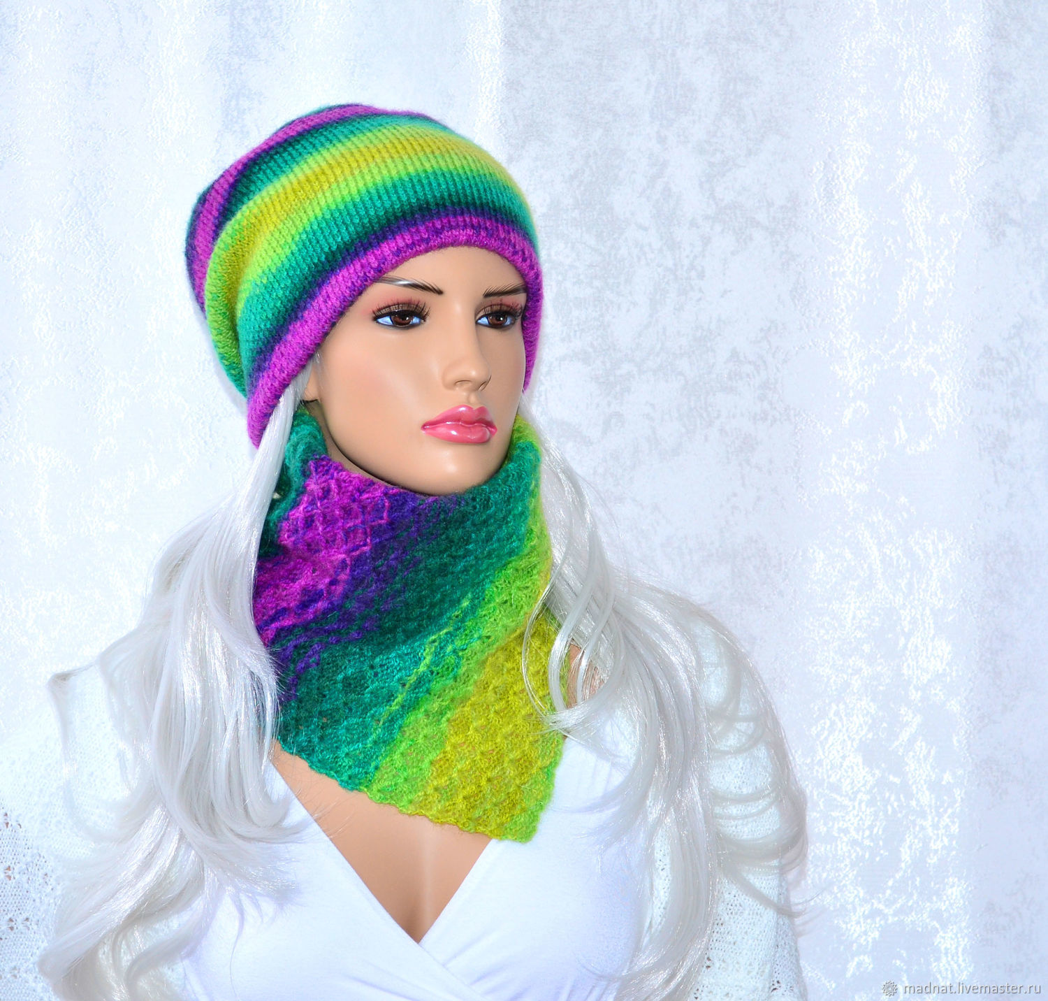 'Give Joy ' knitted women's shirt front, Scarves, Moscow,  Фото №1