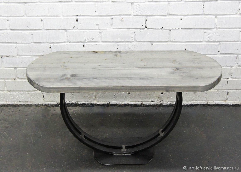 Стол в стиле лофт. Купить и заказать стол в стиле лофт в Москве. Оригинальная дизайнерская работа выполненная в ручную.