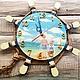 """Часы для дома ручной работы. Ярмарка Мастеров - ручная работа. Купить Часы настенные в морском стиле """"Дети"""". Handmade. Часы"""