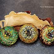 Украшения ручной работы. Ярмарка Мастеров - ручная работа брошки из полимерной глины, осенние. Handmade.