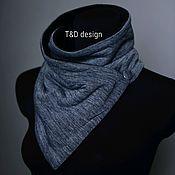 Аксессуары handmade. Livemaster - original item Warm scarf - bib