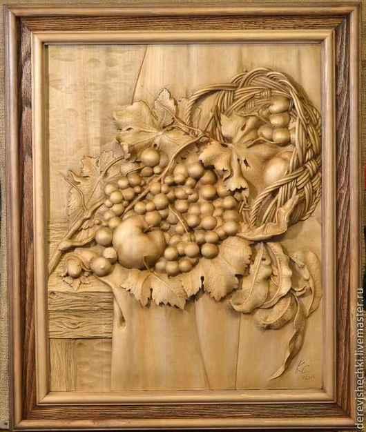 Натюрморт ручной работы. Ярмарка Мастеров - ручная работа. Купить Натюрморт с лесными орехами. Handmade. Коричневый, резьба по дереву
