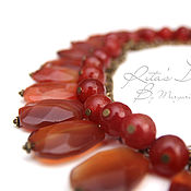 Украшения handmade. Livemaster - original item Honey necklace of carnelian and agate necklace red orange carnelian. Handmade.