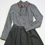 Одежда ручной работы. Ярмарка Мастеров - ручная работа Серая юбка из шерсти Max Mara. Handmade.
