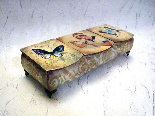 """Шкатулки ручной работы. Ярмарка Мастеров - ручная работа. Купить Шкатулка """"Бабочка"""". Handmade. Подарок на любой случай, подарок девочке"""